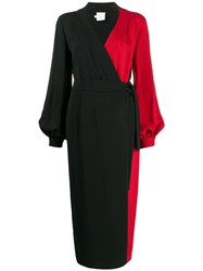 Stella Jean Contrast Panel Wrap Dress 60