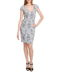 Alexia Admor Pebble Print Sheath Dress Black White