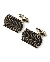Chain Black Bronze And Black Sapphire Cuff Links John Hardy Blue
