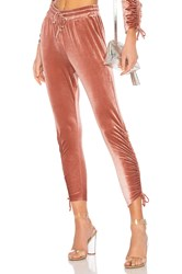 By The Way. Behati Ruched Velour Jogger Pink