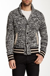 Todd Snyder Champion Knit Wool Blend Cardigan Gray