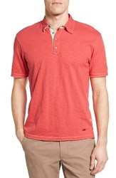 True Grit Men's Slub Jersey Polo Red