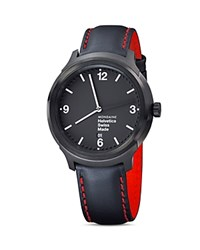 Mondaine Helvetica No1 New York Edition Watch 43Mm Black