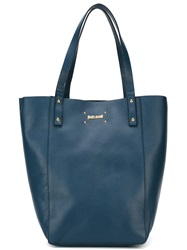 Just Cavalli Large Shopper Tote Blue