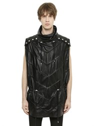 Balmain Sleeveless Leather Poncho