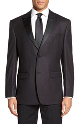 Andrew Marc New York Men's Big And Tall Andrew Marc Classic Fit Paisley Wool Dinner Jacket Brown