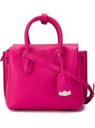 Mcm 'Milla Mini' Tote Bag Pink And Purple