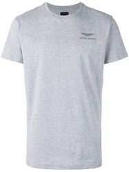 Hackett Chest Print T Shirt Grey