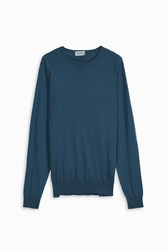 John Smedley Men S Crew Neck Pullover Boutique1 Blue