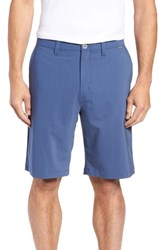 Travis Mathew Keen Microcheck Shorts True Navy Riviera