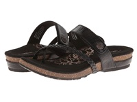 Aetrex Sandalista Lena Adjustable Thong Black Women's Sandals