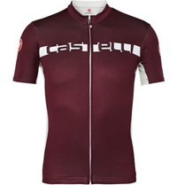 Castelli Prologo 4 Zipped Cycling Jersey Burgundy