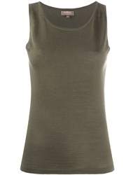 N.Peal Sleeveless Cashmere Top Green