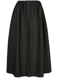 Carolina Herrera High Waisted Maxi Skirt Black