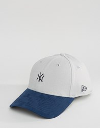 New Era 39Thirty Fitted Cap Ny Yankees With Suede Visor Grey