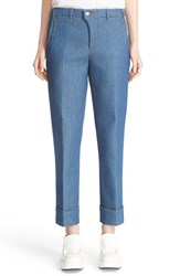 Julien David Women's Cuffed Crop Denim Pants