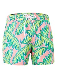 Topman Palm Print Swim Shorts Multi