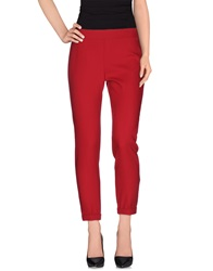 French Connection Casual Pants Garnet