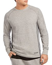 2Xist 2 X Ist Mesh Lounge Crewneck Sweatshirt Heather Gray