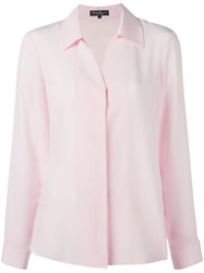 Salvatore Ferragamo Concealed Spread Collar Shirt Pink Purple