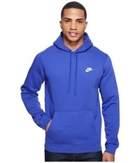 Nike Club Fleece Pullover Hoodie Deep Night Deep Night White Men's Fleece Blue