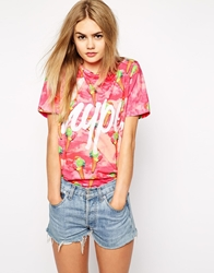 Hype Oversized T Shirt With Ice Cream Print Pink