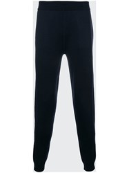 Z Zegna Knitted Track Pants Blue
