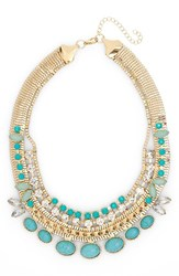 Women's Cara Stone And Rhinestone Collar Necklace