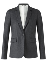 Jigsaw Wool Fine Pinstripe Jacket Charcoal