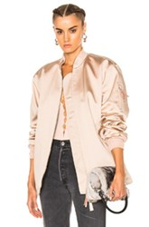 Alexander Wang T By Water Resistant Nylon Bomber In Neutrals
