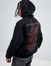 Cheap Monday Logo Oversized Hoodie With Back Print Black