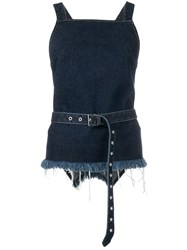 Marques Almeida Marques'almeida Belted Vest Top Blue