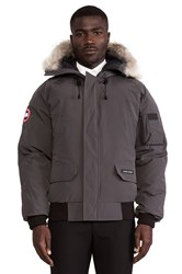 Canada Goose Chilliwack Bomber With Coyote Fur Trim Charcoal