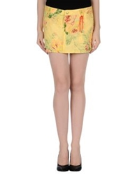 Daniele Alessandrini Mini Skirts Yellow