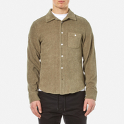 Garbstore Men's Club Towelling Shirt Khaki Green