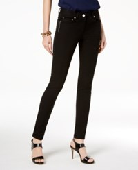 Michael Kors Petite Izzy Skinny Jeans With Zippers True Navy