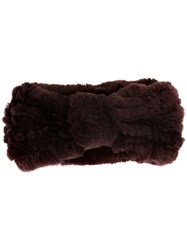 Yves Salomon Furry Headband Purple