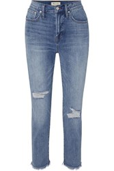 Madewell The Perfect Vintage High Rise Straight Leg Jeans Mid Denim