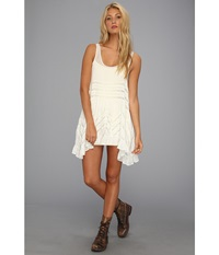 Free People Voile Trapeze Slip White Combo Women's Sleeveless
