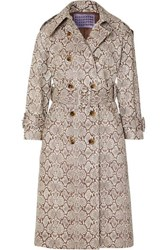 Alexachung Snake Effect Faux Leather Trench Coat Snake Print