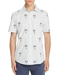 Sovereign Code Mackey Palm Tree Regular Fit Button Down Shirt White Polka Dot Palm