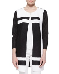 Berek Graphic Long Crinkle Jacket Black White Women's