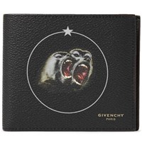 Givenchy Monkey Brothers Printed Faux Leather Billfold Wallet Black