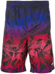 Msgm Gradient Effect Swim Shorts Blue