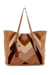 T Shirt And Jeans Tassel Tote Brown