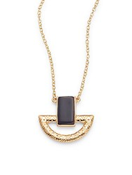 Jules Smith Designs Geometric Pendant Necklace Gold Turquoise