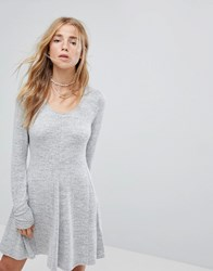 Hollister Cosy Scoop Neck Dress Grey
