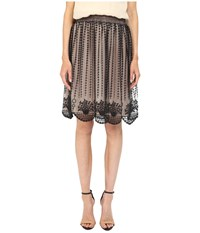 Red Valentino Fit And Flare Tulle Skirt Black