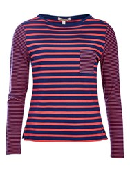 Barbour Barnacle Stripe Jersey Top Navy Red
