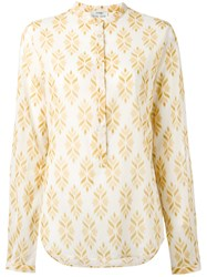 Forte Forte Band Collar Blouse Nude Neutrals